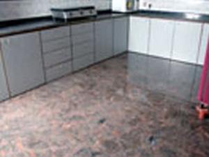 Granite Flooring in a Kitchen